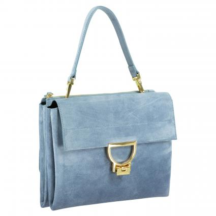 Tasche 'Arlettis Suede' aus Veloursleder blau (B05 COSMIC LILAC) | 0