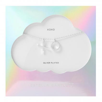 Halskette 'Spinning XoXo' mit Anhänger silber (SILVER PLATED)   0
