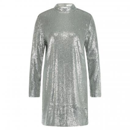 Paillettenkleid 'Theta' mit Rücken-Ausschnitt silber (SILVER) | M