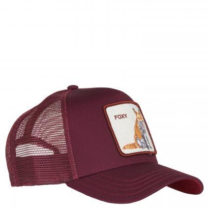 Cap 'Foxy' mit Patch bordeaux (0224-MAR) | 00