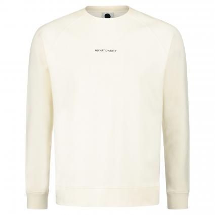 Sweatshirt 'Geoff' mit Label-Print ecru (002) | L