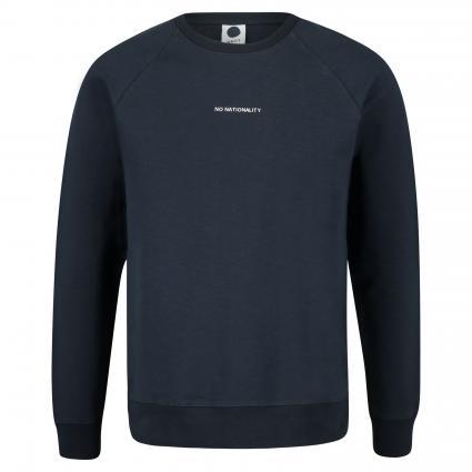 Sweatshirt 'Geoff' mit Label-Print marine (200) | L