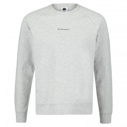 Sweatshirt 'Geoff' mit Label-Print grau (904) | L