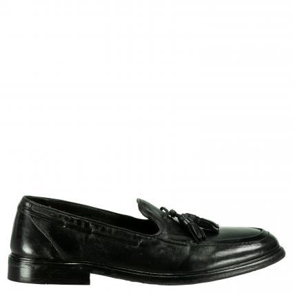Mokassins 'Java' aus Leder schwarz (VEGGY TAN BLACK) | 42