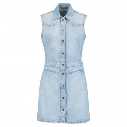 Jeanskleid mit Druckknopfleiste blau (GET LIGHT)   M