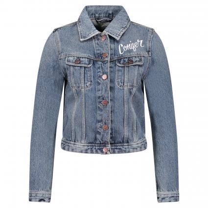Jeansjacke 'Rider' aus Baumwolle mit Letter-Print blau (DUSK VINTAGE )   L