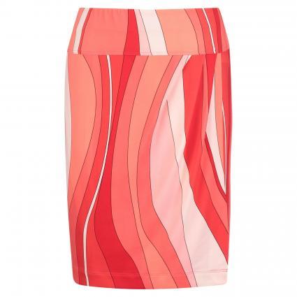 Jupe courte au look enveloppant rouge (271 rot) | 40