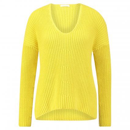 Strickpullover 'Linna' mit V-Ausschnitt gelb (75 GELB) | L