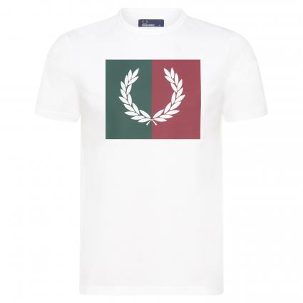 T-Shirt mit Print ecru (129 snowwhite) | XXL