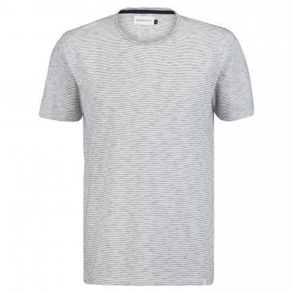 T-Shirt 'Merce' mit Ringelmuster weiss (107 Bright White) | XL