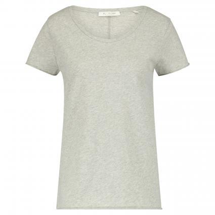 T-Shirt mit Rundhalsausschnitt grau (845 grey melangé) | XS