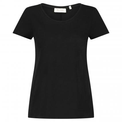 T-Shirt mit Rundhalsausschnitt schwarz (890 black) | M