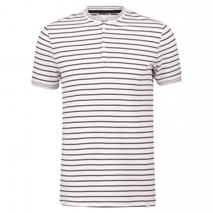 Poloshirt mit Stehkragen weiss (107 Bright White) | M