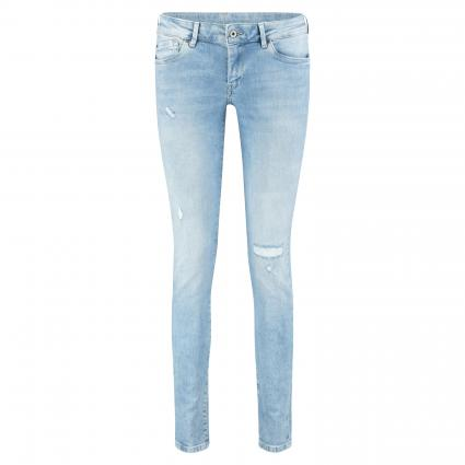 Slim-Fit Jeans 'Pixie' mit Destroyed-Elementen divers (000 DENIM) | 27 | 32