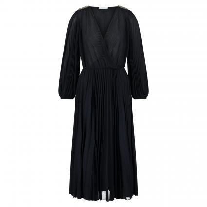 Kleid 'Prua' mit Plisseefalten und Schmucksteinbesatz marine (001 midnight blue) | L