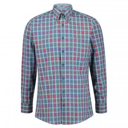 Button-Down Hemd mit All-Over Musterung blau (82182111/15 Blau) | L