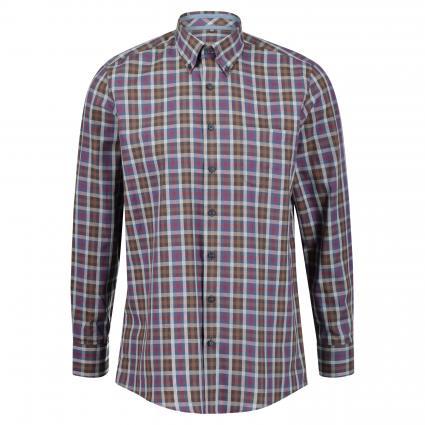 Button-Down Hemd mit All-Over Musterung braun (82182111/30 Braun)   S