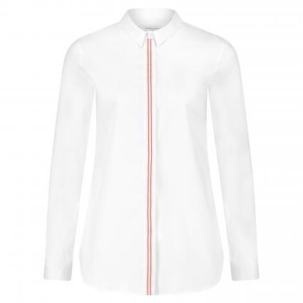 Hemdbluse mit Kontrastleiste weiss (03 weiß/beige/rosa)   42