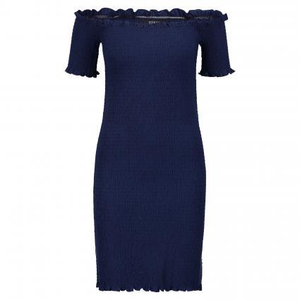 Gesmoktes Kleid 'Martina' blau (G7K5 CAVE BLUE) | M/L
