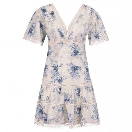 Kleid 'Winona' mit All-Over Muster blau (PI83 MAJOLICA PRINT ) | S