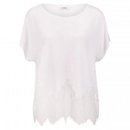 T-Shirt 'Nara' mit Spitzenabschluss weiss (TWHT TRUE WHITE) | S