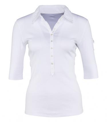 Polo-Shirt mit halblangem Ärmel weiss (100 white) | 36