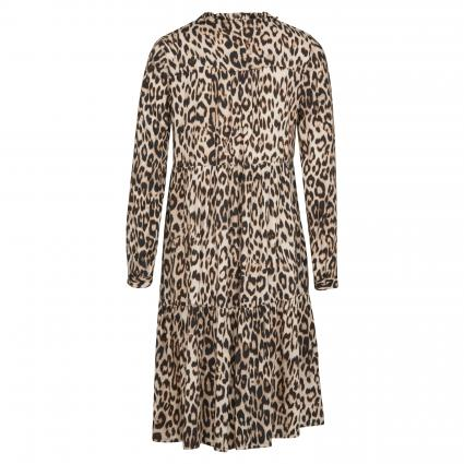 Kurzes Kleid mit Animal Print