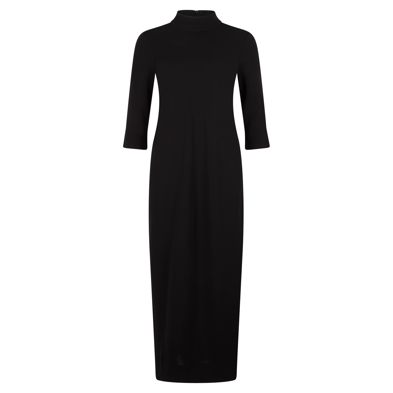 Langes Kleid mit Stehkragen