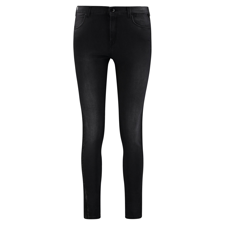 Jeans mit Glitzer Streifen an der Seite
